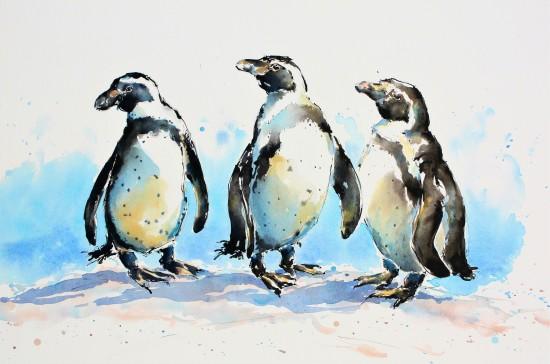 "<span class=""artist""><strong>Julia Cassels</strong></span>, <span class=""title""><em>Three Wise Penguins</em></span>"