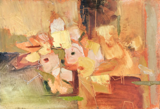 """<span class=""""artist""""><strong>Emma Haggas</strong></span>, <span class=""""title""""><em>Primroses with Terracotta </em></span>"""
