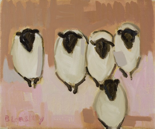 "<span class=""artist""><strong>Bridget Lansley</strong></span>, <span class=""title""><em>Happy Ewes</em></span>"