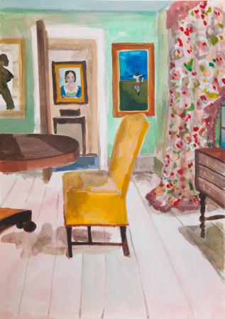 "<span class=""artist""><strong>Lottie Cole</strong></span>, <span class=""title""><em>Interior with Craigie Aitchison</em></span>"