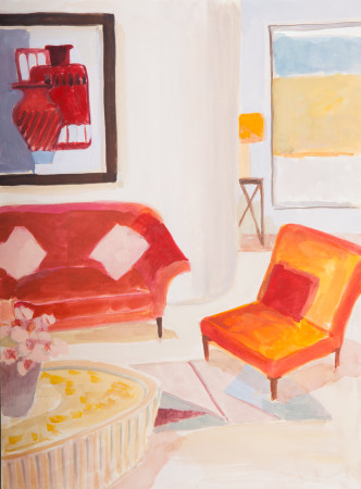 """<span class=""""artist""""><strong>Lottie Cole</strong></span>, <span class=""""title""""><em>Interior with Italian Modernist</em></span>"""