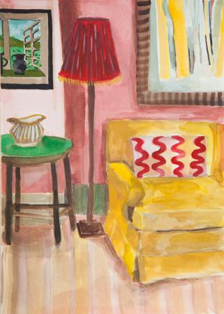 "<span class=""artist""><strong>Lottie Cole</strong></span>, <span class=""title""><em>Interior with Paul Feiler</em></span>"