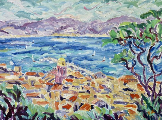 <span class=&#34;artist&#34;><strong>Fi Katzler</strong></span>, <span class=&#34;title&#34;><em>Afternoon Sun at St Tropez</em></span>