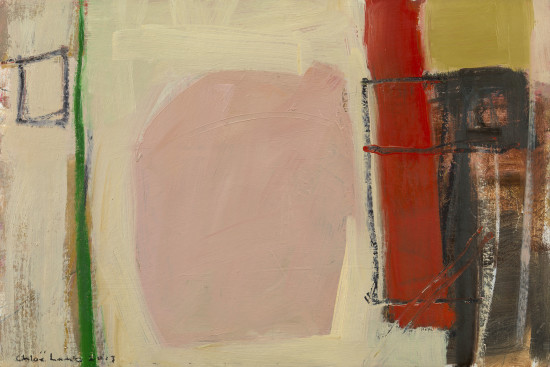 "<span class=""artist""><strong>Chloe Lamb</strong></span>, <span class=""title""><em>Pink and Red February I</em></span>"