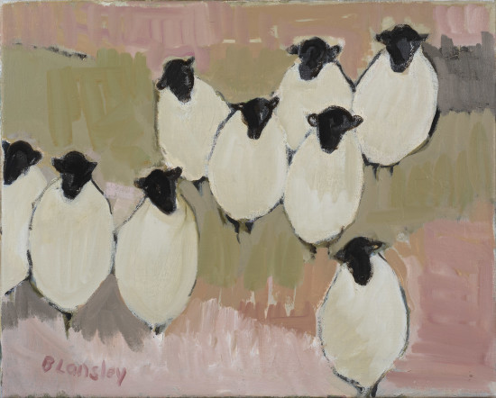 "<span class=""artist""><strong>Bridget Lansley</strong></span>, <span class=""title""><em> Nine Sheep</em></span>"