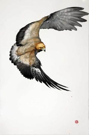 """<span class=""""artist""""><strong>Karl Martens</strong></span>, <span class=""""title""""><em>Golden Eagle</em></span>"""