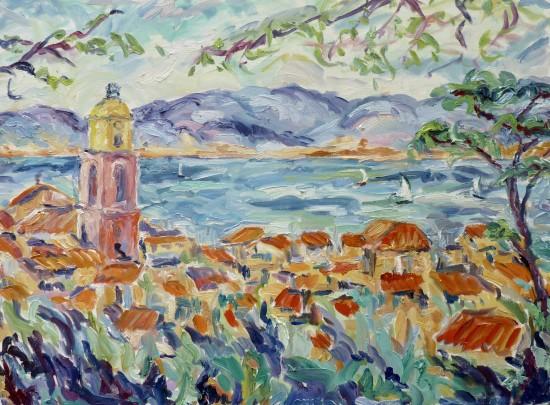 <span class=&#34;artist&#34;><strong>Fi Katzler</strong></span>, <span class=&#34;title&#34;><em>Morning Sun at St Tropez</em></span>