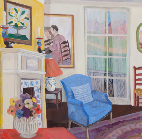 """<span class=""""artist""""><strong>Lottie Cole</strong></span>, <span class=""""title""""><em>Interior with Vanessa Bell, Gluck and Anemones</em></span>"""