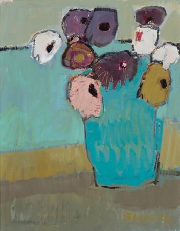 "<span class=""artist""><strong>Bridget Lansley</strong></span>, <span class=""title""><em>Turquoise Pot</em></span>"