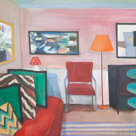 """<span class=""""artist""""><strong>Lottie Cole</strong></span>, <span class=""""title""""><em>Interior with Winifred Nicholson, Ivon Hitchens and Roger Hilton</em></span>"""