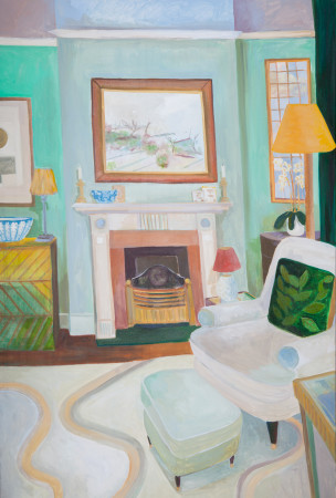 """<span class=""""artist""""><strong>Lottie Cole</strong></span>, <span class=""""title""""><em>Interior with Victor Pasmore</em></span>"""