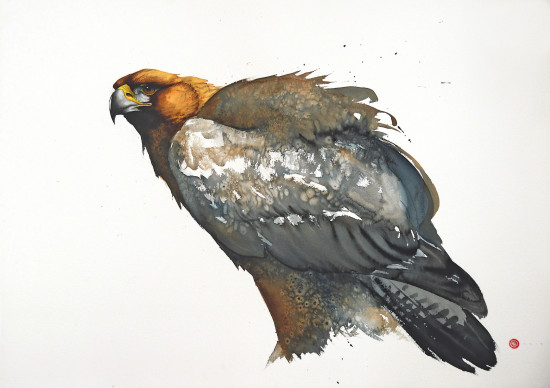 """<span class=""""artist""""><strong>Karl Martens</strong></span>, <span class=""""title""""><em>Golden Eagle (Unframed)</em></span>"""