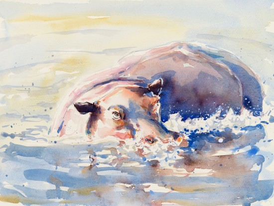 """<span class=""""artist""""><strong>Julia Cassels</strong></span>, <span class=""""title""""><em>Hippo Wallow</em></span>"""