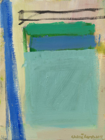 "<span class=""artist""><strong>Chloe Lamb</strong></span>, <span class=""title""><em>Blue and Green I</em></span>"