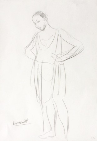 <span class=&#34;artist&#34;><strong>Dame Laura Knight (1877 - 1970)</strong></span>, <span class=&#34;title&#34;><em>Dancer (sketch)</em></span>