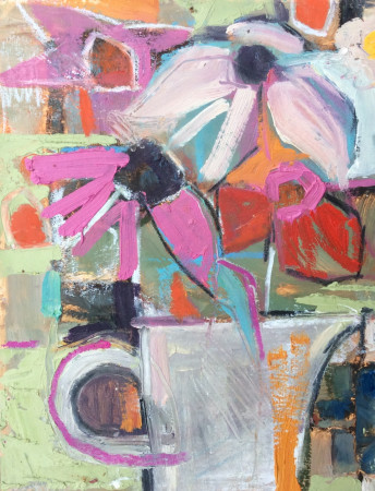 """<span class=""""artist""""><strong>Emma Haggas</strong></span>, <span class=""""title""""><em>Chatty Daisies (Left)</em></span>"""