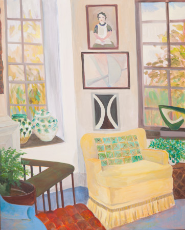 """<span class=""""artist""""><strong>Lottie Cole</strong></span>, <span class=""""title""""><em>Interior with Dennis Mitchell Small Sculpture</em></span>"""