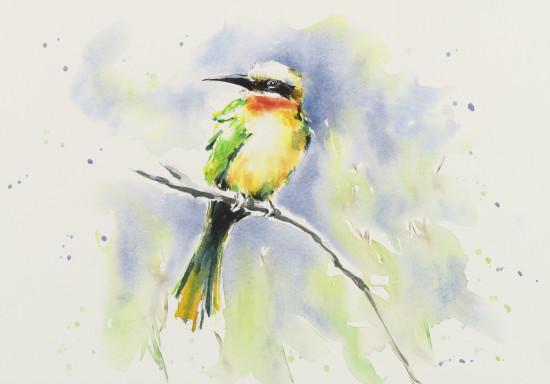 """<span class=""""artist""""><strong>Julia Cassels</strong></span>, <span class=""""title""""><em>Bee-Eater</em></span>"""