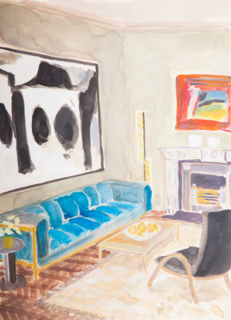 """<span class=""""artist""""><strong>Lottie Cole</strong></span>, <span class=""""title""""><em>Interior with Motherwell and Hodgkin</em></span>"""
