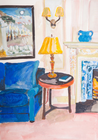"""<span class=""""artist""""><strong>Lottie Cole</strong></span>, <span class=""""title""""><em>Interior with Paul Nash</em></span>"""