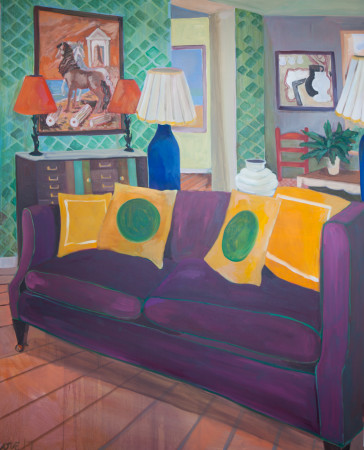 """<span class=""""artist""""><strong>Lottie Cole</strong></span>, <span class=""""title""""><em>Interior with De Chirico and Dismorr</em></span>"""