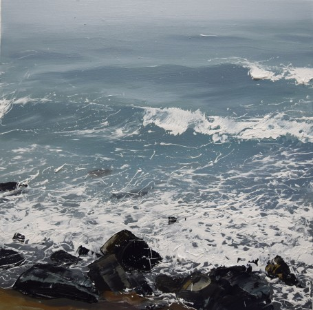 <div class=&#34;artist&#34;><strong>Annie Wildey</strong></div><div class=&#34;title&#34;><em>Rocks n Surf II</em>, 2015</div><div class=&#34;medium&#34;>oil on canvas</div><div class=&#34;dimensions&#34;>12 x 12 in.</div><p><span class=&#34;title&#34;>framed $1,150<br /></span></p>