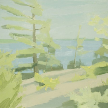 <span class=&#34;artist&#34;><strong>Sara MacCulloch</strong></span>, <span class=&#34;title&#34;><em>Lake and Pines</em>, 2016</span>