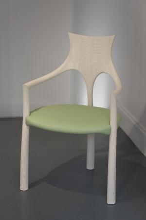 John Makepeace, Washed Oak Chair, 2018