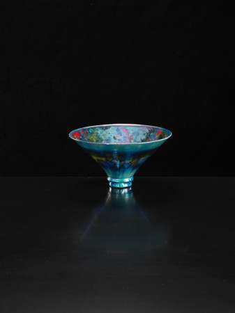 Sutton Taylor, Flared Bowl with Blues, 2018