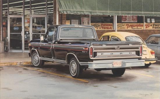 <span class=&#34;artist&#34;><strong>Ralph Goings</strong></span>, <span class=&#34;title&#34;><em>Black Ford</em>, 1975</span>