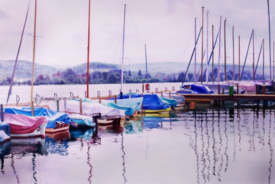 <span class=&#34;artist&#34;><strong>Raphaella Spence</strong></span>, <span class=&#34;title&#34;><em>Zurich Waterfront</em>, 2017</span>
