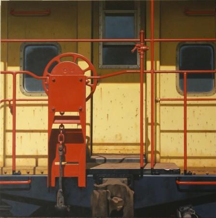 <span class=&#34;artist&#34;><strong>Gus Heinze</strong></span>, <span class=&#34;title&#34;><em>Yellow Caboose</em></span>