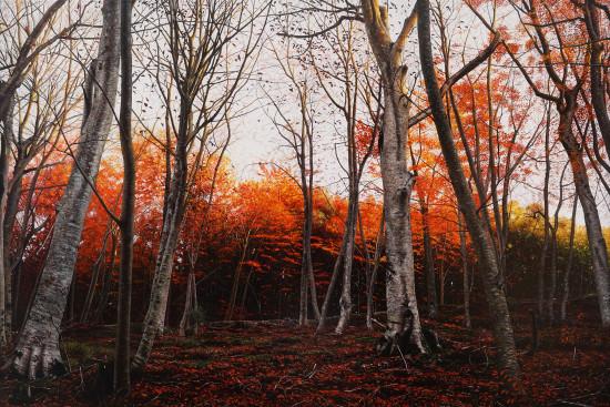 <span class=&#34;artist&#34;><strong>Raphaella Spence</strong></span>, <span class=&#34;title&#34;><em>Autumn Woods</em>, 2017</span>
