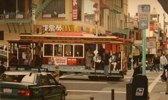 Christian Marsh, Chinatown cable car, San Francisco