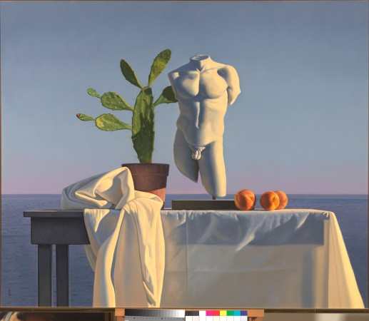 <span class=&#34;artist&#34;><strong>David Ligare</strong></span>, <span class=&#34;title&#34;><em>STILL LIFE WITH TORSO AND CACTUS</em></span>