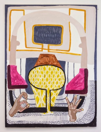 <p>Michael Leon,&#160;<i>They Broke the Retarded boys Ribs and All I Did Was Watch</i>, 2013</p><p>Oil and acrylic on canvas, 48 x 36 in.</p><p>leon003</p>