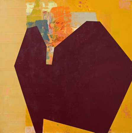 <p><b>Sydney Licht</b><br /> <i>Leaning Out</i>, 2015&#160;&#160;&#160;&#160; <br /> Oil on linen<br /> 28 x 28 in</p>