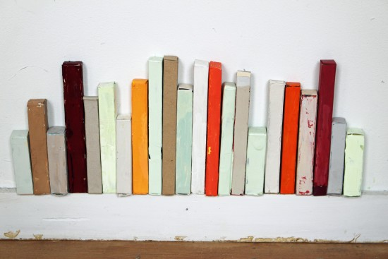 <p><b>Sydney Licht</b><br /> <i>Untitled</i>, 2015&#160;&#160;&#160;&#160; <br /> Found boxes<br /> 6 1/2 x 16 in.&#160;</p>