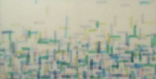<p><b>Mike&#160; Solomon</b><br /> <i>Elysium</i>, 2015&#160;&#160;&#160;&#160; <br /> Watercolor on rice paper with epoxy<br /> 24 x 48 in.&#160;</p>