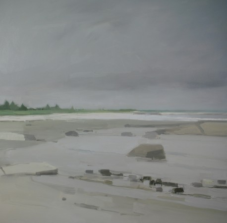 <p><strong>Sara MacCulloch</strong></p><p><i>Beach and Clouds</i>, 2014&#160;&#160;&#160;&#160;</p><p>Oil on canvas</p><p>48 x 48 in.&#160;</p>
