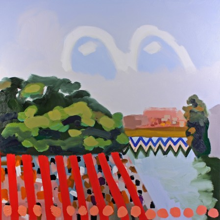 <p><strong>Susanna Bluhm</strong></p><p><i>My beloved has gone down to his garden</i>, 2012<br /> Oil and acrylic on canvas<br /> 50 x 50 inches</p>