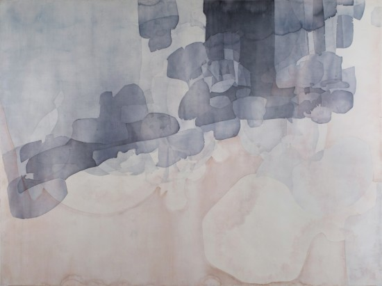 <p><strong>Eric Blum</strong></p><p><em>Untitled No. 686,</em> 2013</p><p>Ink, silk, and beeswax on panel</p><p>53 x 71 in</p>