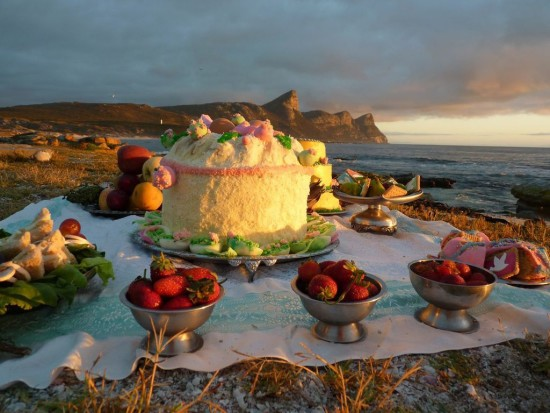 <p><strong>Dana Sherwood</strong></p><p><em>Picnic at Cape Point (Invitation)</em>, 2011</p><p>Digital C-Print</p><p>16 x 20 in.</p>
