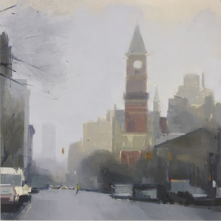 <p><strong>Lisa Breslow</strong></p><p><i>Jefferson Market Library</i>,&nbsp;2012&nbsp;</p><p>Oil and pencil on panel</p><p>24 X 24 inches</p>