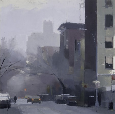 <p><strong>Lisa Breslow</strong></p><p><i>West Village, Greenwich Street</i>,&nbsp;2012<i>&nbsp;</i></p><p>Oil and pencil on panel</p><p>24 X 24 inches</p>