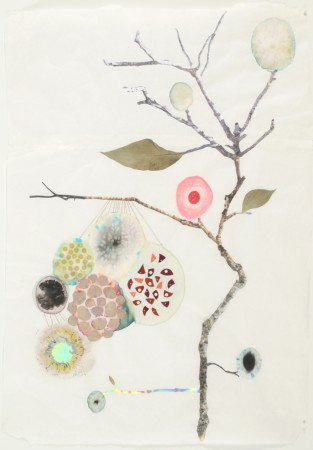 <p><strong>Marilla Palmer</strong></p><p><i>Hanging Hydrangea,</i>&#160;2011</p><p>mixed media on Mulberry paper</p><p>25 x 18 in</p>