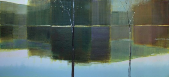 <p><strong>Stephen Pentak</strong></p><p><i>X.I,</i>&#160;2011</p><p>Oil on panel</p><p>42 1/2&#160; x 96&#160; inches</p>
