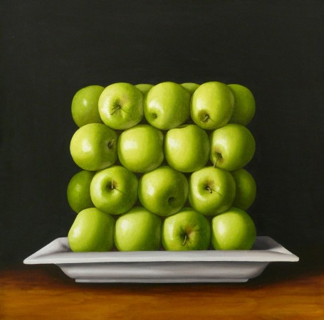 <p>Antonia Williams&#160;</p><p>Green Square Apples</p><p>Oil on canvas</p><p>76 x 76 cm</p>