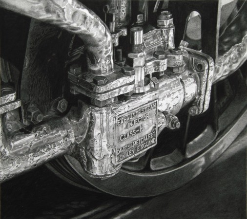 <p>Roger Watt</p><p>&#34;Injector&#34;</p><p>Graphite on paper</p><p>23 x 25.5 cm</p>