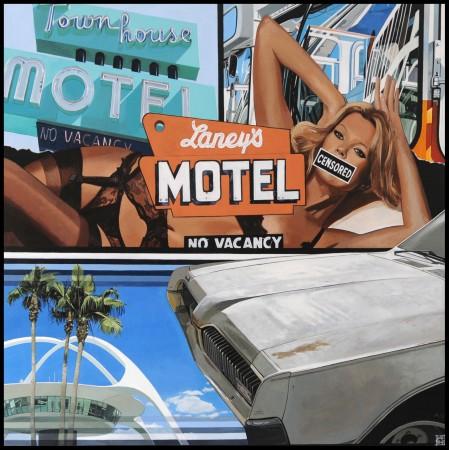 <p>&#34;L.A Cougar&#34;</p><p>Acrylic on canvas</p><p>100 x 100 cm</p>